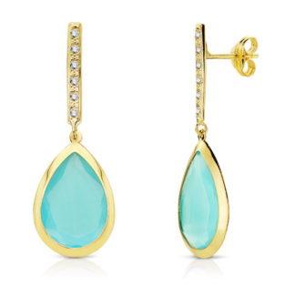 pendiente-oro-mujer-piedra-azul-agua