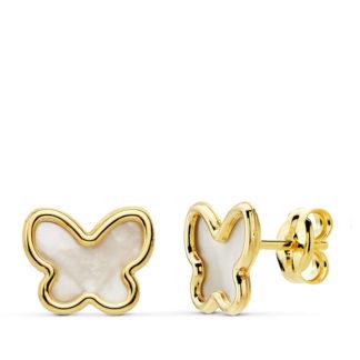 pendiente-oro-mujer-mariposa