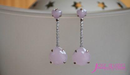 pendientes-plata-novia-rosa-quarzo-cadiz-sevilla